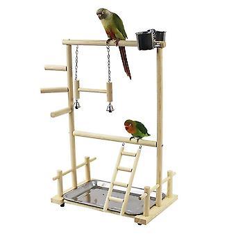 Parrot Playstands Toys Tray Bird Swing Climbing Hanging Ladder Bridge Wood Cockatiel|Bird Toys
