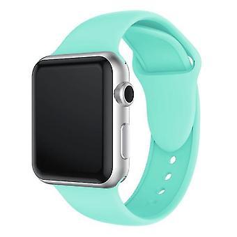 Pulsera de silicona de doble remachado para Apple Watch serie 3 y 2 1 38 mm (verde menta)