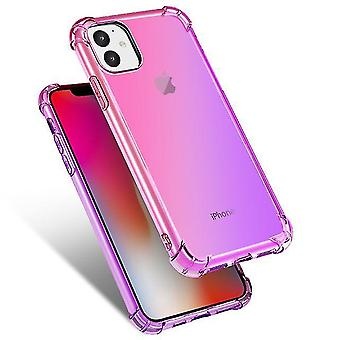 Beautiful Shockproof TPU Case with Airbag for Apple iPhone XR - Pink & Purple