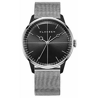 Klasse14 Disco Volante Silver Black Mesh 40mm WDI19SB001M Watch