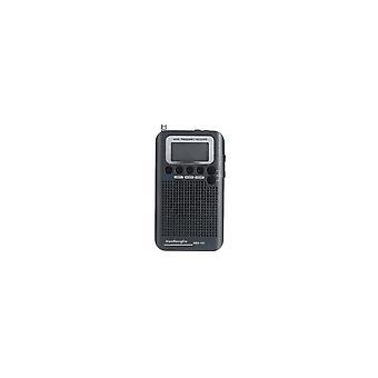 Full Bands Portable Digital AIR FM AM CB SW VHF Radio LCD Stereo Mini Receiver Speaker BLACK