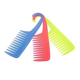 Peigne à cheveux créatifs Grand peigne à dents larges avec cintre Abs plastique Démêlant antistatique