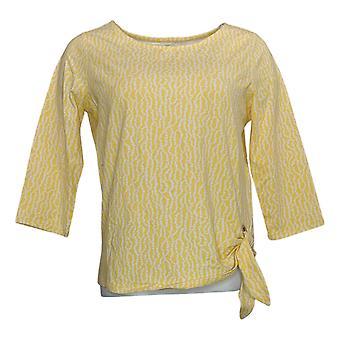 Belle af Kim Grus Kvinders Top Printed Long Sleeve Yellow A301534