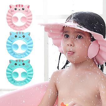 Dusche Gehörschutz Safe Baby Cap Einstellbare Haarwaschmütze für Neugeborene Kinder Shampoo Shield Bad Kopfbedeckung