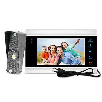 Intercoms 7 tuuman näyttö videopuhelin ovikello kamera muistikortilla