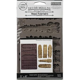 "Prima Marketing Re-Design Mould 5""X8""X8mm - Kungliga Fontäner"