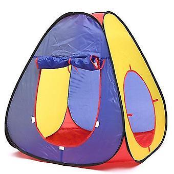 ثلاثة في واحد في الهواء الطلق خيمة الأطفال الزحف نفق مكعب شكل مسرح للأطفال