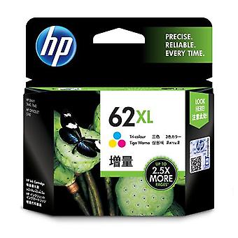 HP 62XL Original High Capacity Tricolor Ink Cartridge, High (XL) Yield
