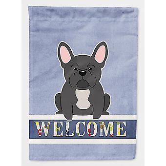 Flags windsocks carolines treasures bb5595gf french bulldog black welcome flag garden size