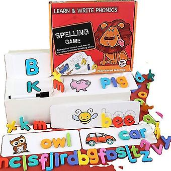 Wooden blocks 3d wooden english alphabet early educational intelligence puzzle game children's jigsaw toys