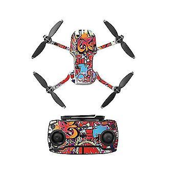 PVC Aufkleber mavic mini Drohne Abziehbilder Controller HautAufkleber Set für dji mavic mini Zubehör (A)