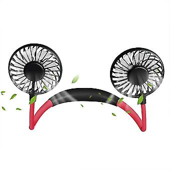 Neck hanging fan, usb rechargeable hand free portable sports fans mz298