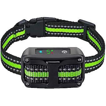 Coleira anti-casca, versão 2020, com vibração, som e choque elétrico, colar de módulo de detecção de casca inteligente para cães grandes, médios e pequenos