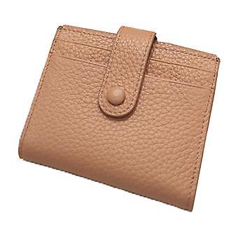 Women Leather Short Wallet Business Credit Card Holder Lady Slim Purse Organizer