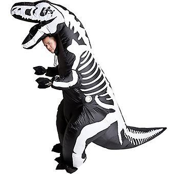 Надувной хэллоуин костюм Скелет Динозавр T-rex Надувной костюм