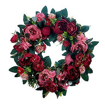 Yesfit عيد الميلاد الروطان عيد الميلاد الاصطناعي زهرة كرمة النباتات زينة عيد الميلاد، عيد الميلاد غارلاند