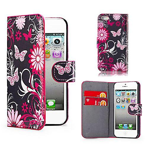 Design Book Leather Case Cover For Apple iPod Touch 5 - Gerbera
