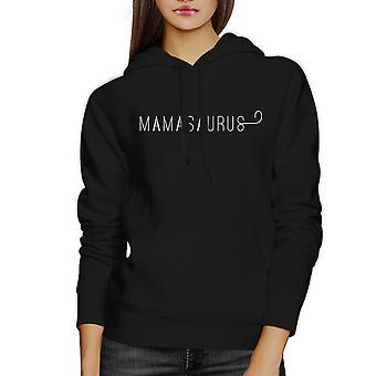 Mamasaurus Black Unisex eenvoudig ontwerp leuke Hoodie voor jongens moeder