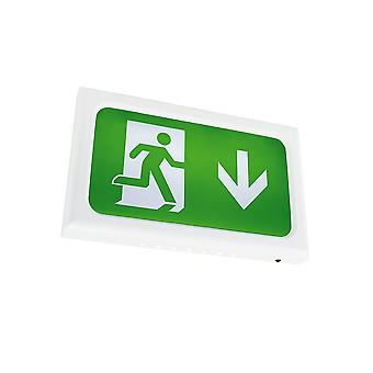 Ansell Encore LED Emergency Exit Box, White, Self-test