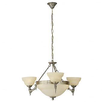 Eglo Marbella 6 Light Traditional Ceiling Light Pendant Burnishe