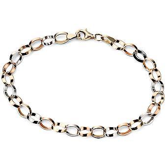 9 ct Gold Bracelet witgoud luxe en 375/1000 k goud