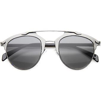 Modern Fashion metalen Frame Double brug Pantos Aviator zonnebril 50mm