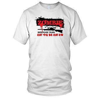 Equipo de respuesta de Zombie comer o ser comido hombre T Shirt