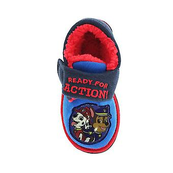 Boys Kids Paw Patrol Lupton Design Character Touch Close Slippers With Lights