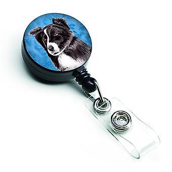 Carolines Treasures  SC9138BU-BR Border Collie Retractable Badge Reel or ID Hold