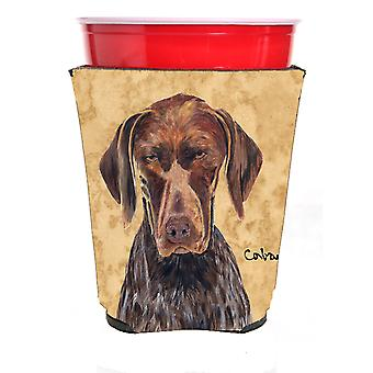 German Shorthaired Pointer Red Solo Cup Beverage Insulator Hugger