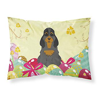 Easter Eggs Cocker Spaniel Black Tan Fabric Standard Pillowcase
