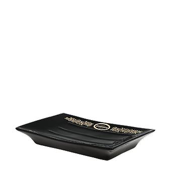 Antiga Barbearia De Bairro Black And Gold Soap Dish