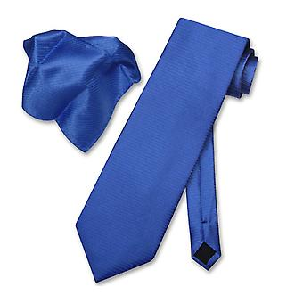 Antonio Ricci NeckTie zakdoek w / geribde lijnen stropdas Set