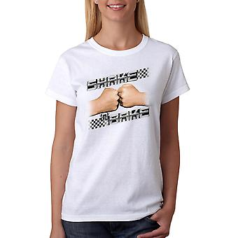 Talladega Nights Shake and Bake Checker Women's White T-shirt