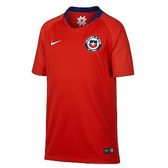 2018-2019 تشيلي هوم نايكي لكرة القدم قميص (أطفال)