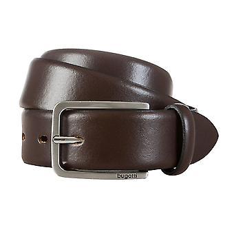 Bugatti bälte läder mäns bälten läderbälte Brown 429