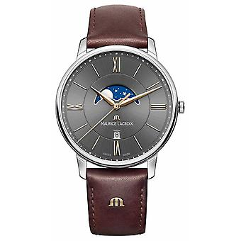 Maurice Lacroix Mens Eliros Brown Leather Strap EL1108-SS001-311-1 Watch