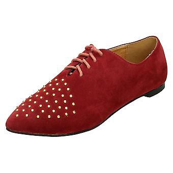 Ladies flekk på Flat lisse opp sko / piggdekk Vamp
