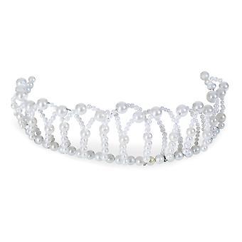 Perle diadem fleksible tilbehør prinsesse