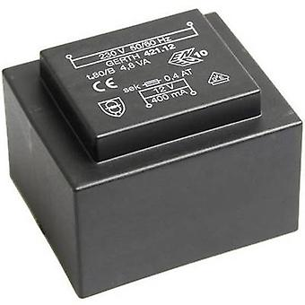 Gerth PT426002 PCB mount transformer 1 x 230 V 2 x 30 V AC 4.80 VA 80 mA