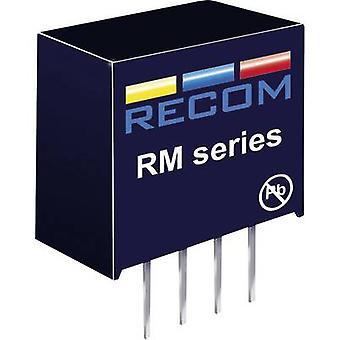 RECOM RM-3.33.3 S RM-3.33.3 S 0.25 W DC/DC omvandlare RM-3.33.3 S 3,3 V DC 3,3 V DC 76 mA 0,25 W