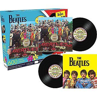 Beatles Sgt. Pepper 600 Stück geformt doppelte doppelseitige Jigsaw Puzzle