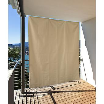 Vertical solar wind protection privacy balcony terrace cream l: 230 x B: 140 cm