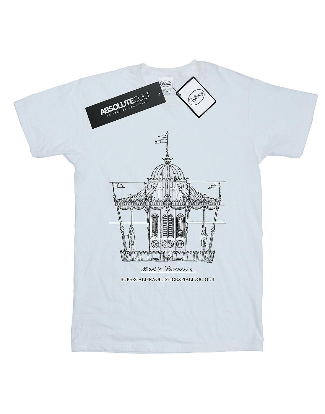 Disney Men's Mary Poppins Carousel Sketch T-Shirt