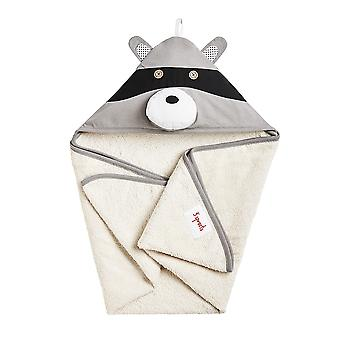 Delta Raccoon hooded bathrobe-100% foam
