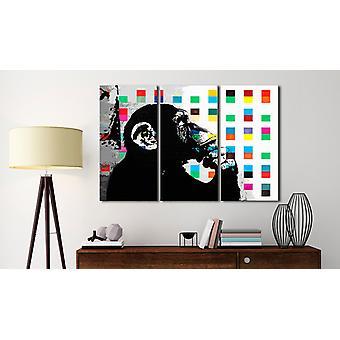 Maalaus - Inspired Banksy90x60:n Ajattelija-apina