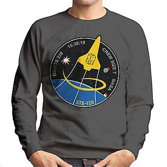 NASA-STS 120 Shuttle Mission Bilder Patch Herren Sweatshirt