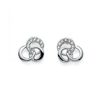Oliver Weber Post Earring Linky Rhodium Crystal