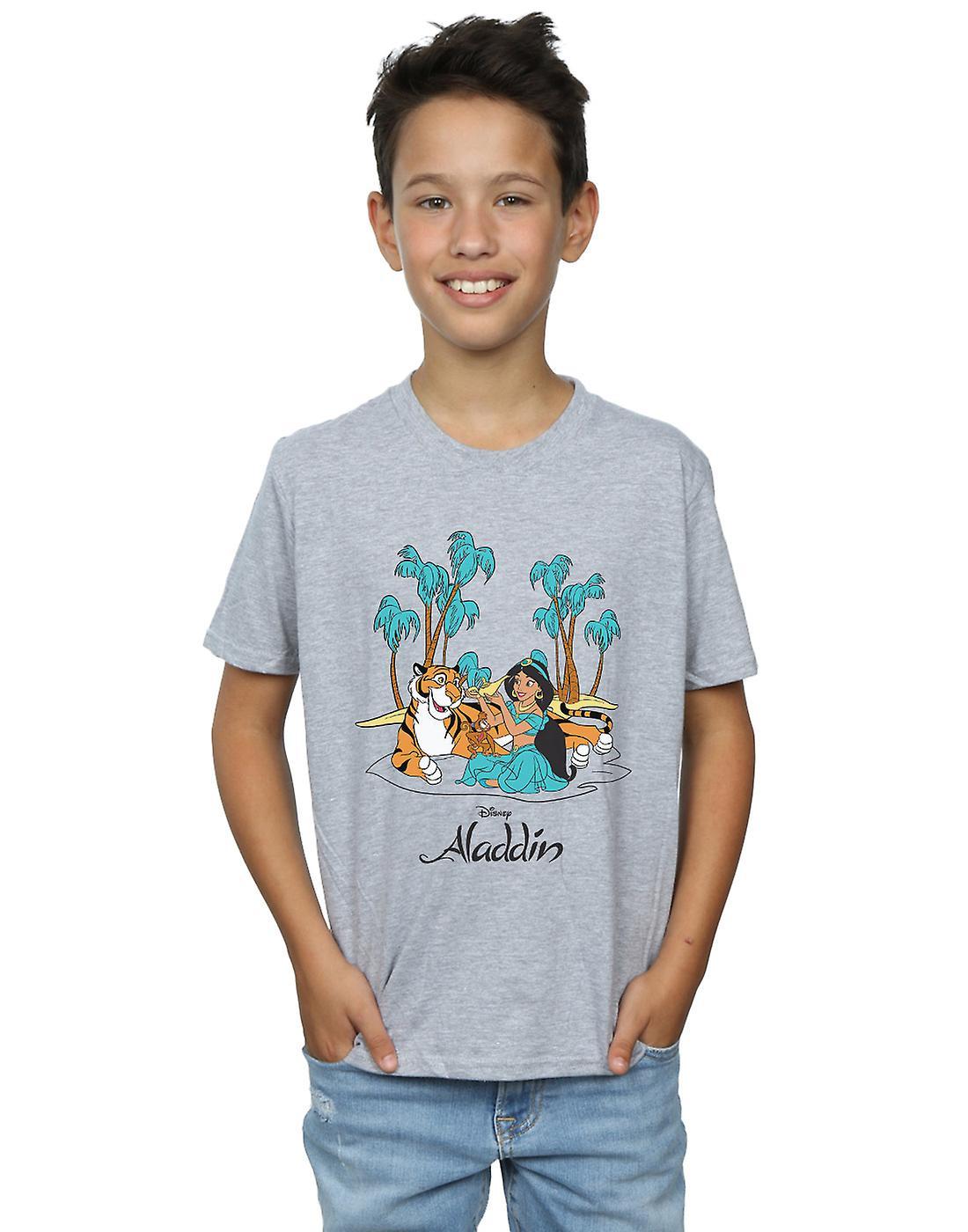 Disney Boys Aladdin Jasmine Abu Rajah Beach T-Shirt
