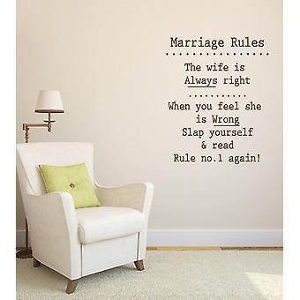 Ehe-Regeln-Neuheit-Wandtattoo
